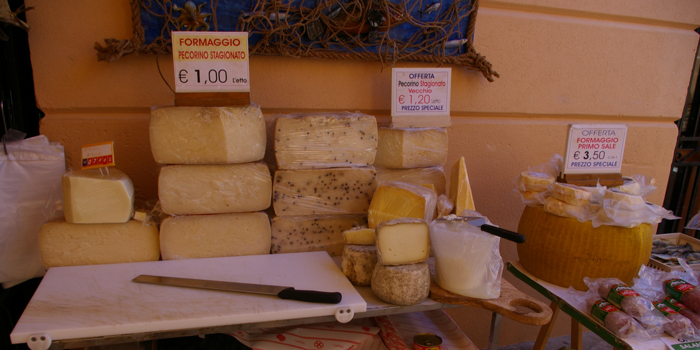 Typical Sicilian cheese